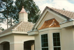 Copper Bay Window and Cupola