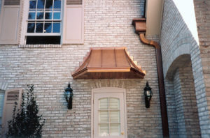 Copper Door Hood | Downspout
